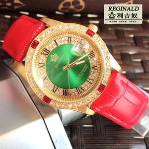 Image 4 - 2019 Womens Watch Large Dial Leather Digital Wristwatches Luminous Fashion Quartz Rhinestone Gold Watches Jewelry Luxury Gift