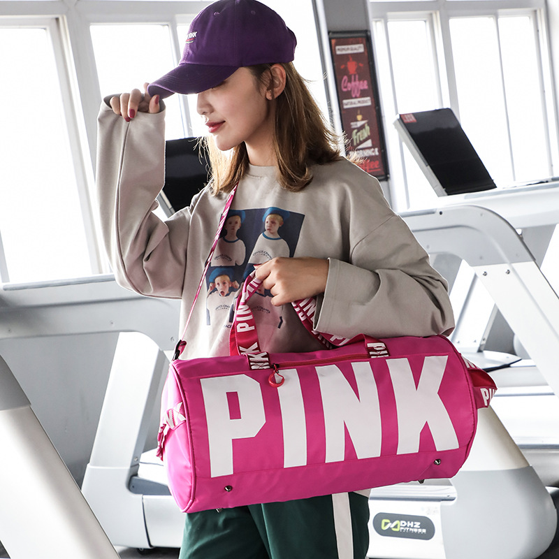 JULY'S SONG Big Capacity Gym Bags Pink Pattern Waterproof Travel Bags For Women Outdoors Training Yoga Sport Duffle Storage Bags