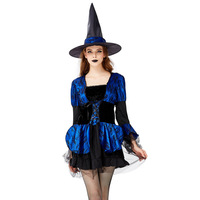 Halloween Clothing Witch Adult Witch Character Play Clothing Makeup Ball Cosplay Witch Costume