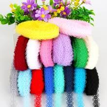 Matériel de couture en dentelle de 5yards, 15mm de largeur, bricolage, décorations artisanales de mariage, d'anniversaire et de noël