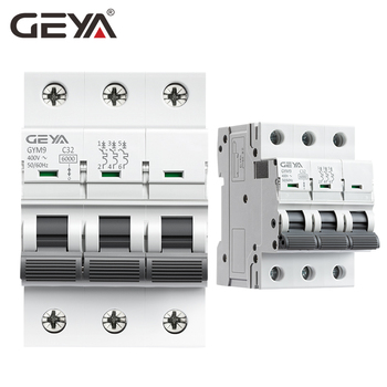 GEYA GYM9 3P 6KA البسيطة disyuntor الدين السكك الحديدية قطاع دارة 6A 10A 16A 20A 25A 32A 40A 50A 63A AC نوع MCB 400V