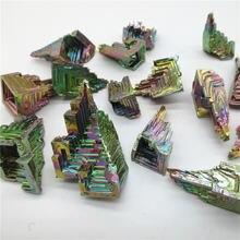 Bismuth ore Кристалл висмута настраиваемый Радужный цвет металлический