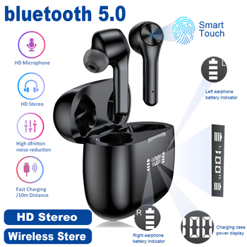 T9 TWS Wireless headphone bluetooth 5.0 Earphone Waterproof Sport Stereo HIFI Earbuds LED Power Display Gaming Headset PK f9 tws