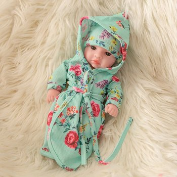 25CM Baby Reborn Dolls Vinyl Toys For Girls With Doll Clothes Reborn Beautiful Birthday Gift Realistic Baby Toys hot sale 22 reborn dolls lifelike handmade vinyl baby newborn dolls with clothes girls gift bedtime early education toys
