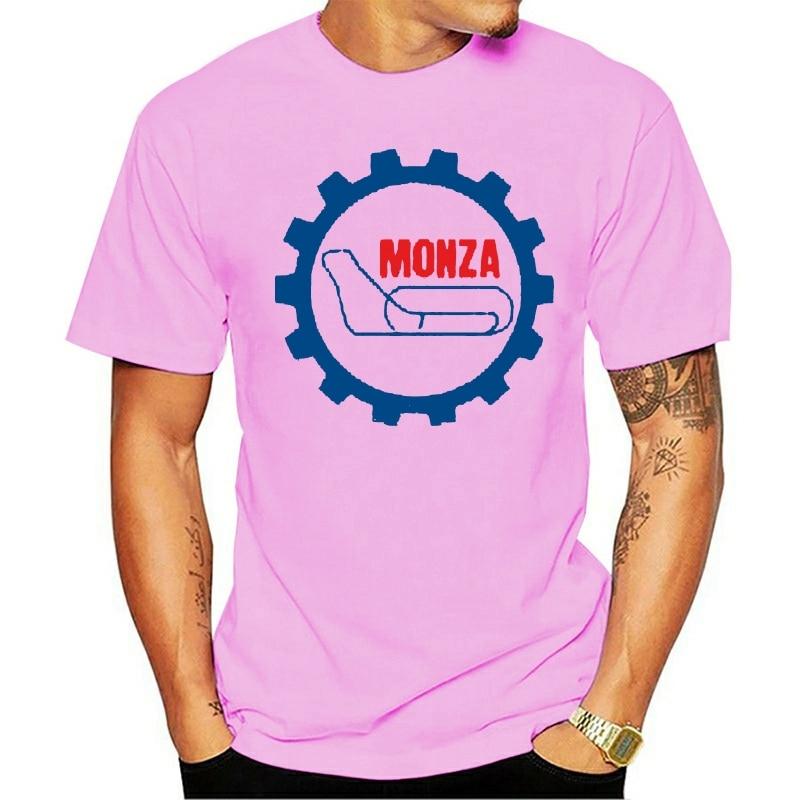 2021 T-shirt 100% cotton Camiseta preta do símbolo do circuito da pista de corrida de monza