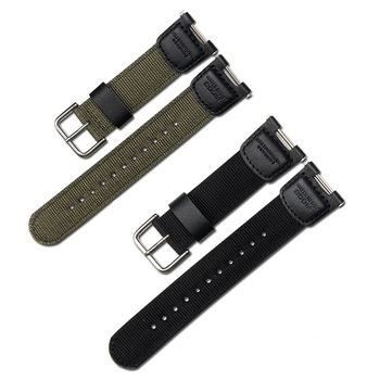 Military Green Nylon Watchband for Casio SGW-100 SGW100 Waterproof Strap Replacement Driving Sport Watch Accessories - discount item  3% OFF Watches Accessories