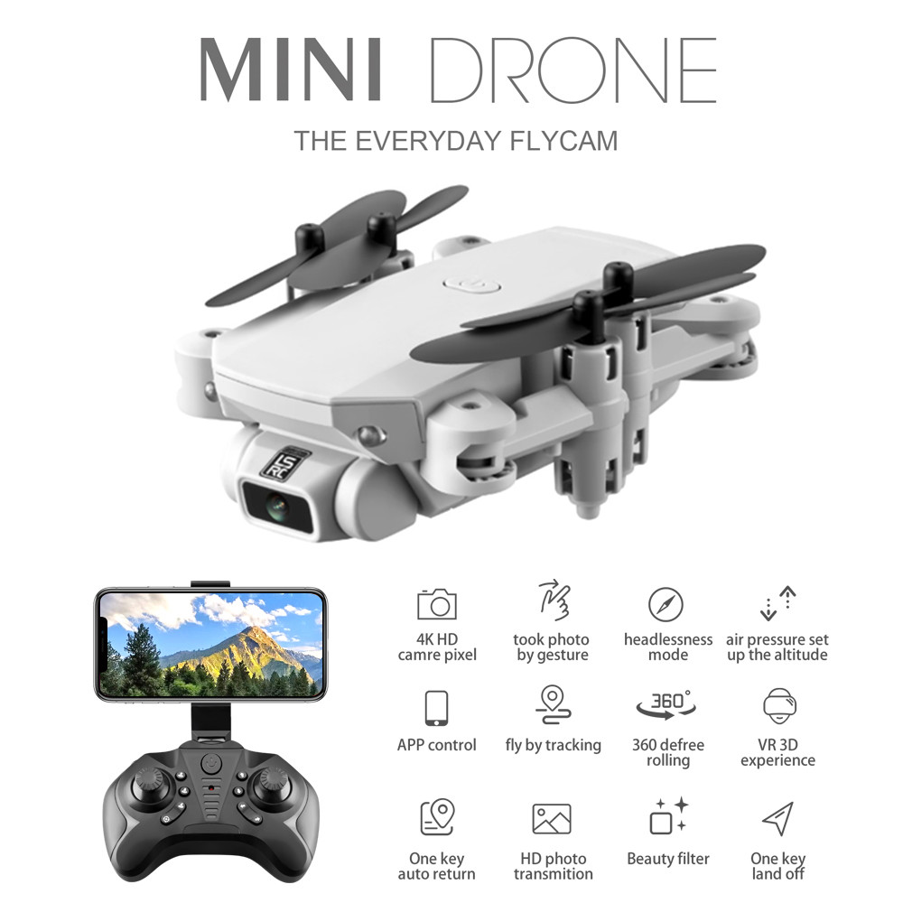 KALIONE Mini Pocket Drone 4K WIFI FPV Camera Gesture Photo Gravity Induction indoor RC Helicopter Wide Angle Quadcopter for Kids