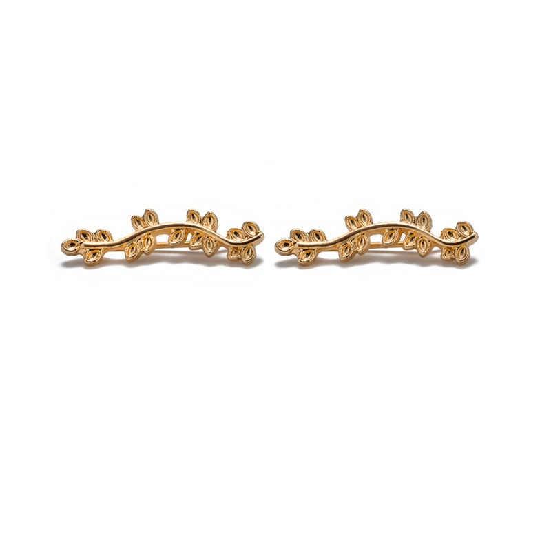 Новые модные серьги-гвоздики серебристого и золотого цвета в стиле бохо, клипсы для ушей, свадебные массивные серьги-клипсы для женщин, вечерние ювелирные изделия