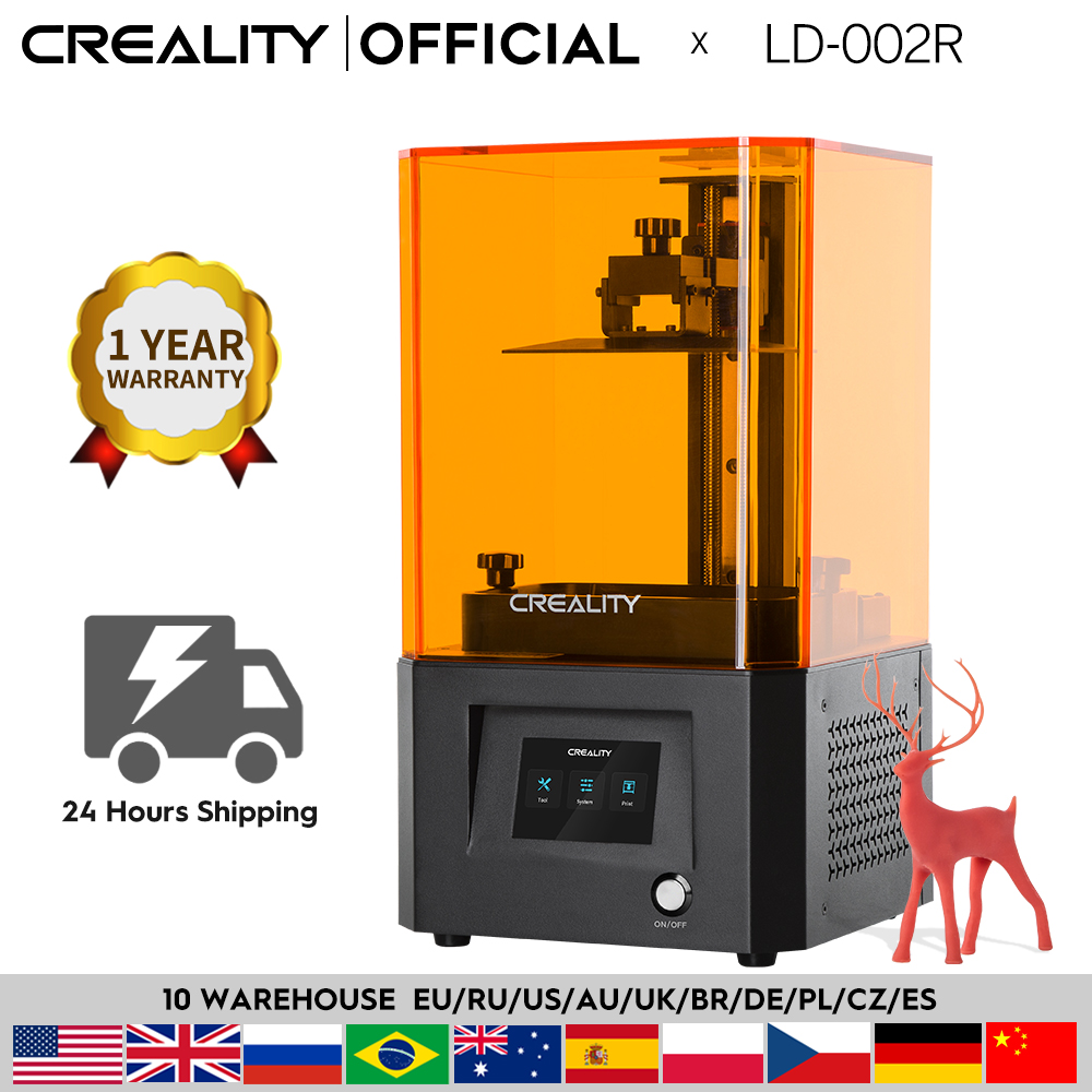 CREALITY 3D Printer LD-002R UV Resin 3D Printer LCD Photocuring Ball Linear Rails Air Filtration Sys