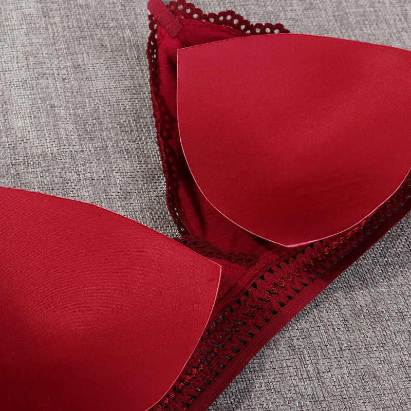 1/2 pièces femmes Bralette Style français dentelle soutien-gorge filles Triangle tasse Lingerie profonde V sous-vêtements sans armature doux mince sans couture soutien-gorge