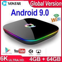 Q Plus Smart TV Box Android 9.0 TV Box 4GB RAM 32GB/64GB ROM Quad Core H.265 USB3.0 2.4G WiFi Set Top Box 4K TVBOX Media Player