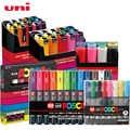 UNI POSCA Marker Pen-Set POP Poster Werbung Graffiti Stift PC-1M PC-3M PC-5M Runde Kopf Ölige Farbe Stift