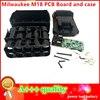 Корпус M18, пластиковый чехол для литий-ионной батареи, защитная плата для зарядки для печатной платы Milwaukee 18 в M18 48-11-1815 3 Ач 4 Ач 5 Ач