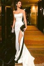 Скромные черно белые платья для выпускного вечера 2021 пикантные