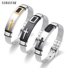 Женский и мужской браслет для часов из нержавеющей стали