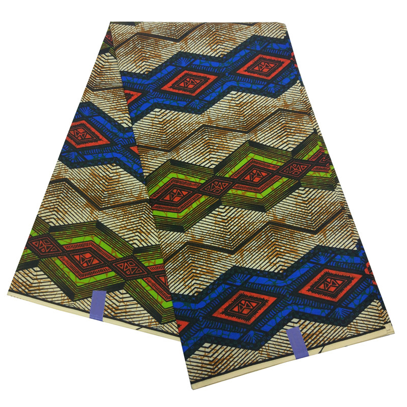 African Fabric Ankara Fashionable 6 Yard Dutch Wax Tissus For Party Dress Cotton Material African 2019 Ankara Fabric