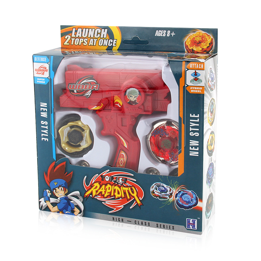 Clearance SaleToys-Set Gyroscope-Toy Bey-Blade Dual-Launchers Metal Spinning with Hand Tops For-Sale