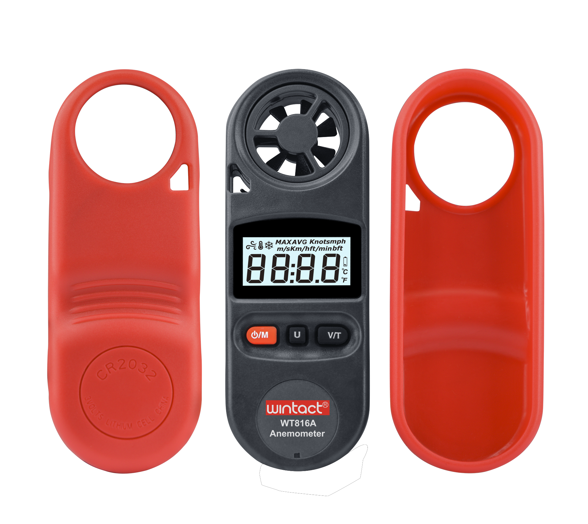 Portable RZ GM816 Wind Speed Meter Used as Anemometer with LCD Display Useful for Windsurfing 22