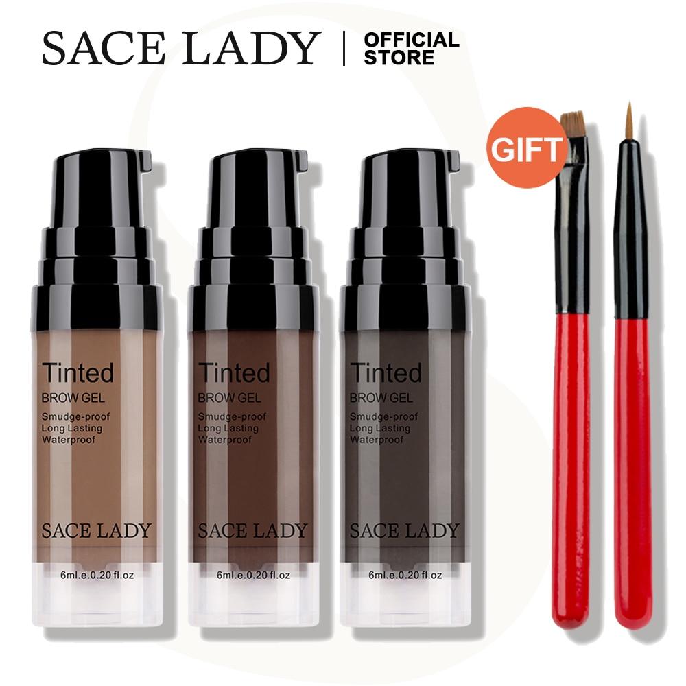 sace lady a prova dwaterproof agua sobrancelha matiz conjunto de maquiagem gel sobrancelha creme escova kit