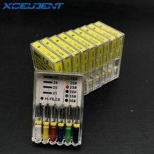 10 paket/los Dental H-Datei 25mm Hand Verwenden dateien Endodontie Instrumente Zahnarzt Werkzeuge Zähne Bleaching Material Schneller Versand