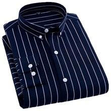 Spring New Men's Long Sleeve Lined Print Shirts Bu