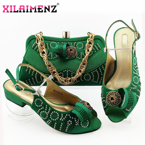 Image 5 - Comfortable Heels African Women Shoes and Bag to Match in Royal Blue Color Italian Style with Evening Bag Matching Shoes and Bag