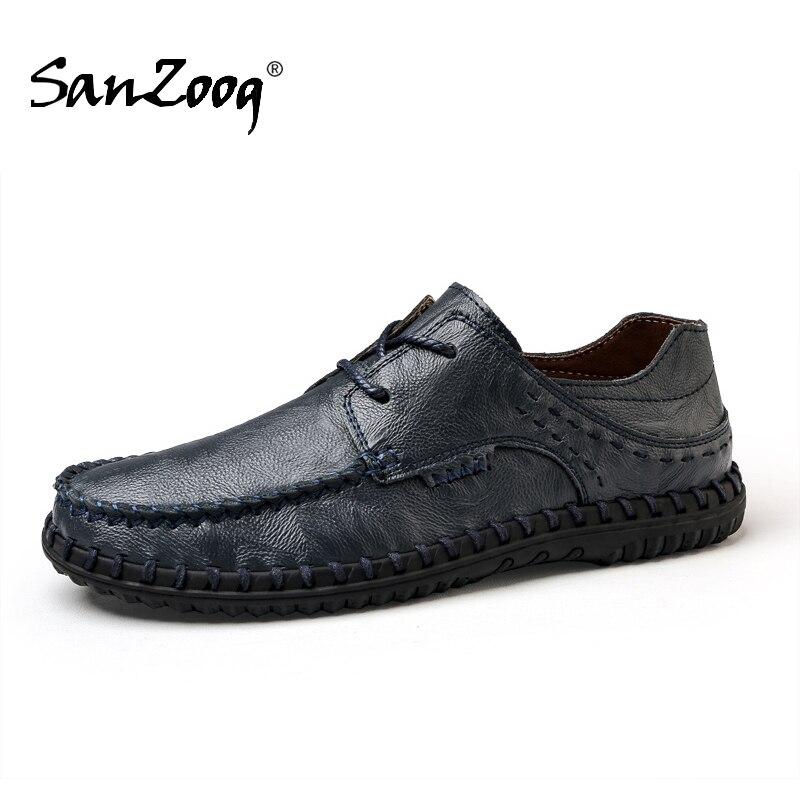 Mens Lace Up Leather Shoes Casual Chaussure Homme Cuir Black Zapatos De Cuero Para Hombre Heren Schoenen Leer Spring Autumn 48s