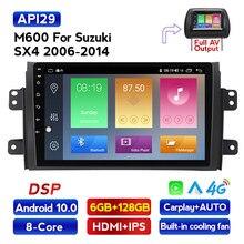 MEKEDE 6G + 128G Android 10,0 DSP auto Radio Multimedia reproductor de vídeo para Suzuki SX4 2006-2011, 2012 de 2013 GPS de navegación 2 din DVD