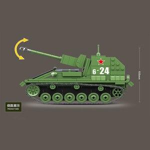 Image 4 - 601 قطعة الاتحاد السوفياتي العسكري SU 76M دبابات اللبنات خزان العسكرية في كتل الجيش الجندي سلاح الطوب مجموعات ألعاب تعليمية