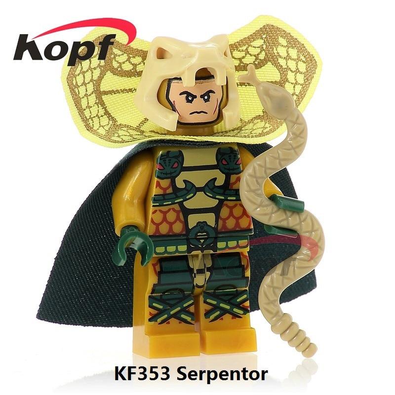 Single Sale Super Heroes Serpentor Snake Eyes Firefly Snow Job Dolls Bricks Building Blocks Education Toys Children Gift KF353