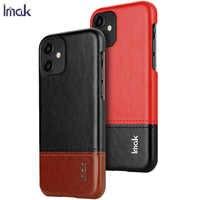 IMAK pour IPhone 11 6.1 pouces housse de luxe peau en cuir PU étuis pour IPhone 11 dur PC couverture arrière
