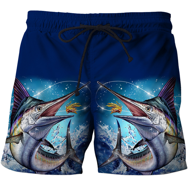 2021 summer new casual swimming shorts men's 3D personalized printed beach pants loose comfortable casual quick-drying pants 1