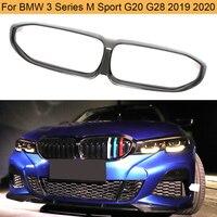 Carbon Fiber Car Front Kidney Grille for BMW 3 Series G20 G28 2019 2020 Front Bumper Grill Frame Carbon Fiber Grille