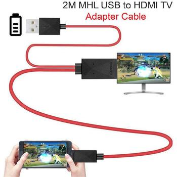 цена на 2M Micro USB MHL to HDMI Cable 5 Pin & 11 Pin 1080P HD TV Cables Adapter for SamSung HuaWei Xiaomi HTC Android Phone