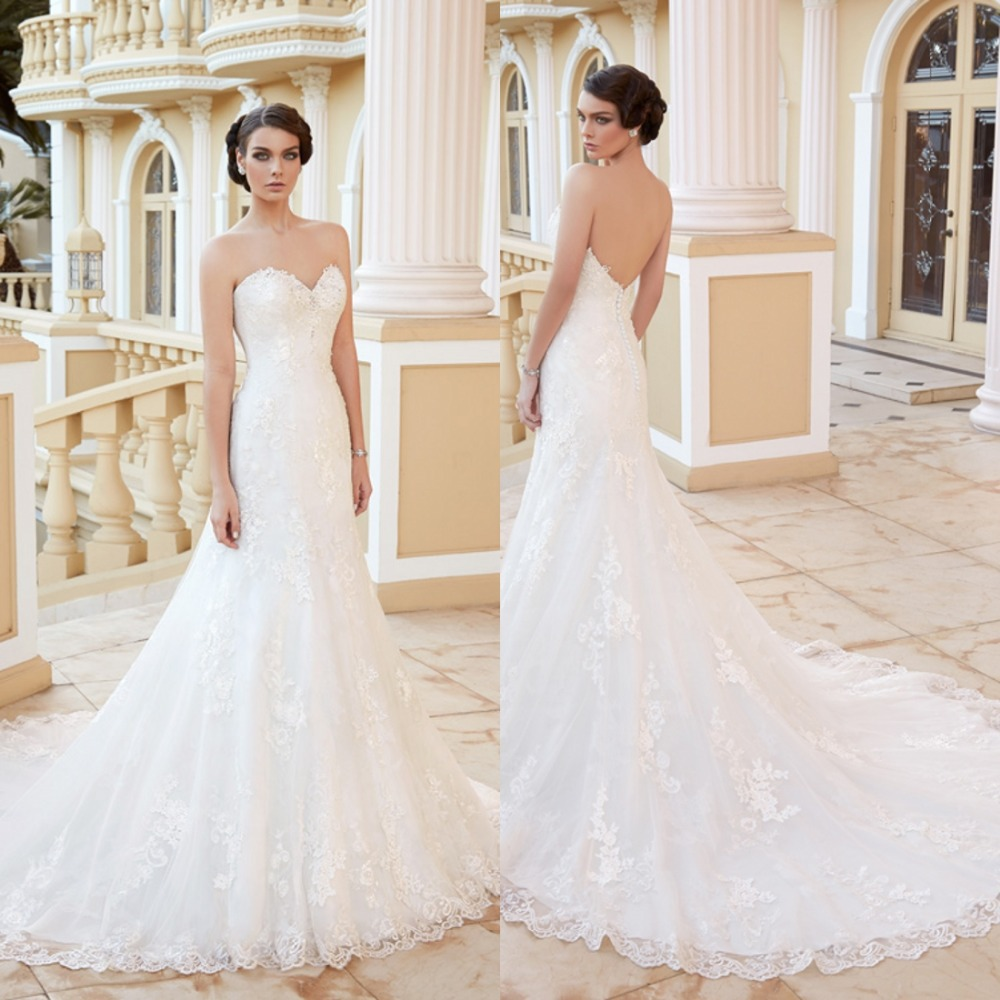Exquisite A-Line Sweetheart White Ivory Appliques Floor Length Long Wedding Dress Short Sleeve Chapel Train Bridal Gown