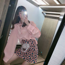Fashion bag hip skirt suit women 2020 autumn new sexy leopard