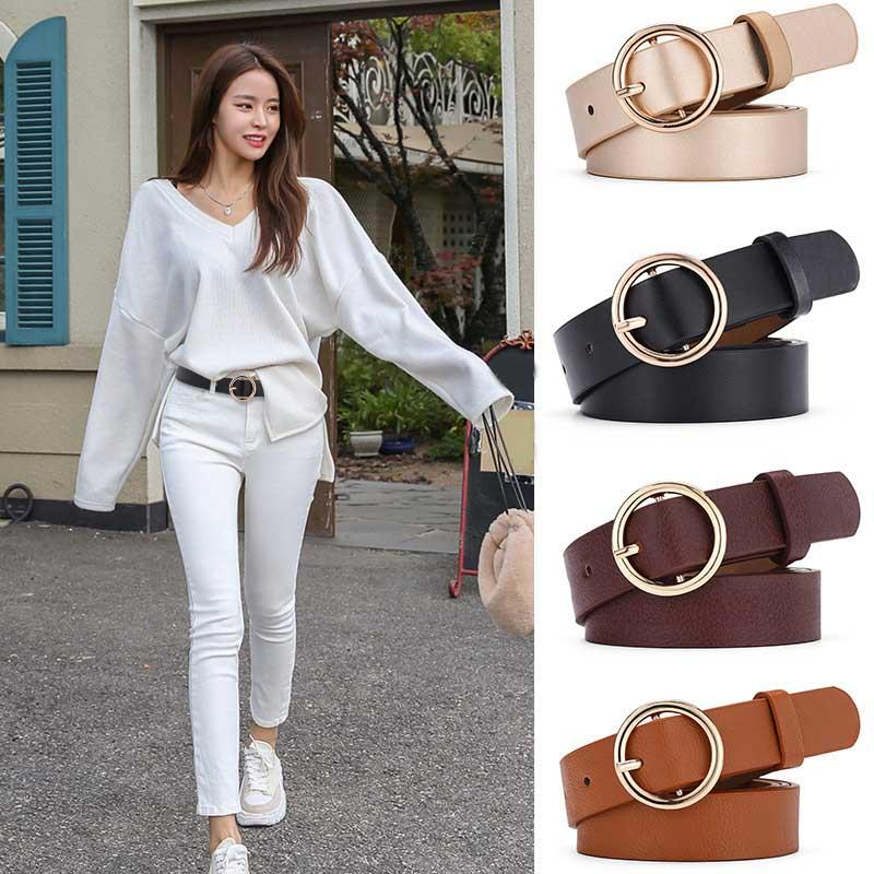 Women Belts Fashion Leather Waistband Dress Accessories For Ladies Solid Female