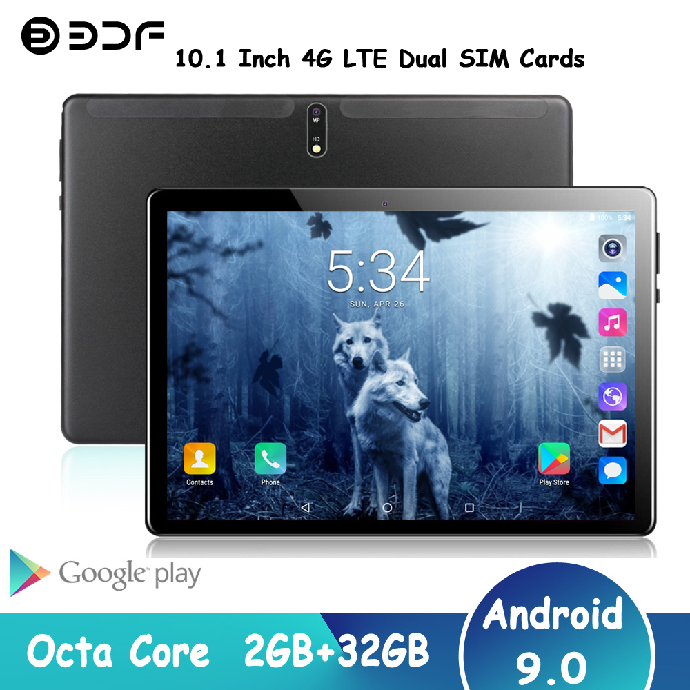 BDF M107 4G LTE Phone Call Tablets Octa Core 10.1 Inch IPS 1280*800 2GB RAM 32GB ROM SC9863A GPS Android 9.0 5000mAh Tablet Pc