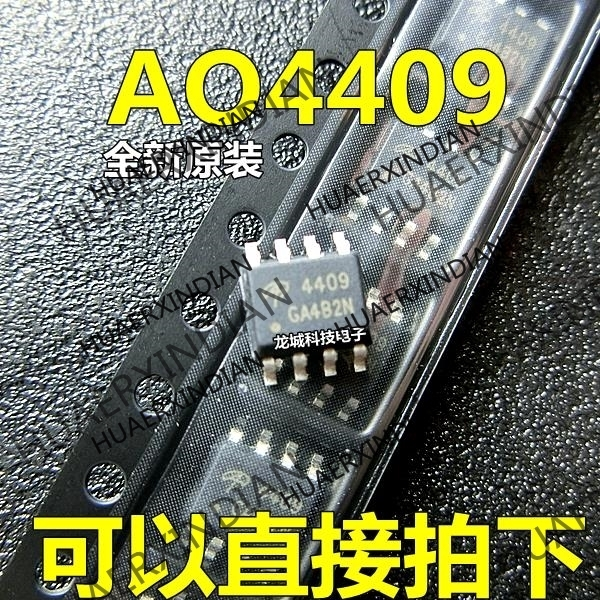 10PCS/LOT NEW <font><b>AO4409</b></font> AO4409L SOP-8 MOSFET P in stock image