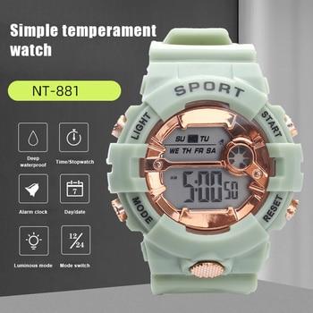 Electronic watch student sports Korean style simple temperament watch male sports waterproof electronic watch NYZ Shop
