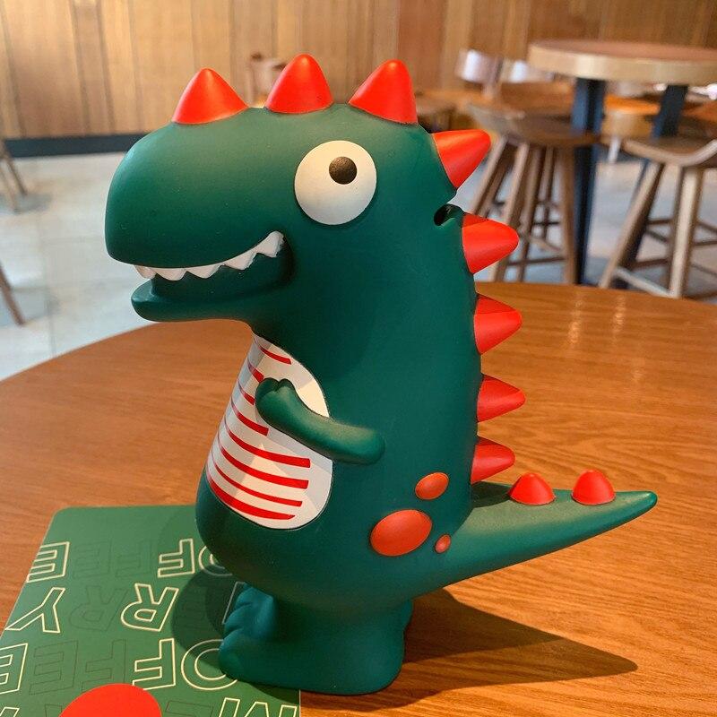 Cofrinho de dinossauro, banco de moedas de desenhos animados, decorativo, fofo, dinheiro, plástico, presentes para crianças