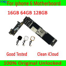 For iphone 6 4.7 inch Original unlocked Motherboard with/without Touch ID,100% Tested for iphone 6 Mainboard 16GB / 64GB / 128GB