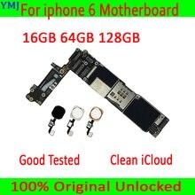 Para iphone 6 4,7 pulgadas Original desbloqueado Placa base con/sin Touch ID,100% probado para iphone 6 placa base 16GB / 64GB / 128GB