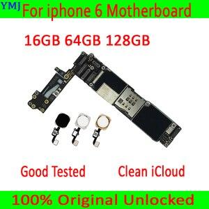 Image 1 - لوحة أم أصلية مفتوحة لهاتف iphone 6 4.7 بوصة مع/بدون معرف باللمس ، لوحة رئيسية 100% مختبرة لهاتف iphone 6 16GB / 64GB / 128GB