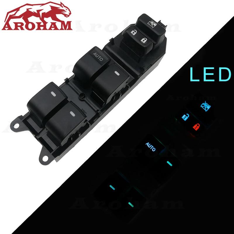 Lighted Power Window Switch for Toyota Yaris Camry Tacoma Lexus Highlander Land Cruiser Venza rav4 2006-2015 84820-06100 LED