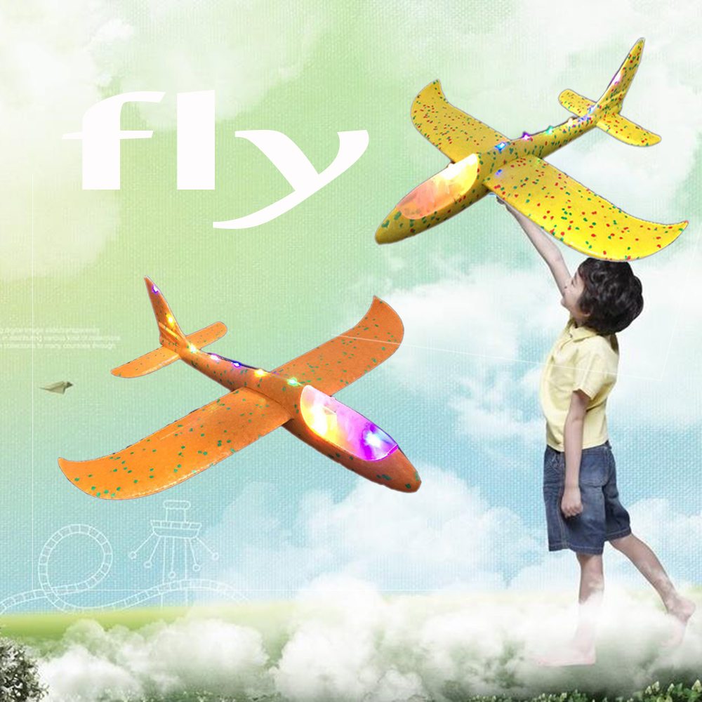 Hand throw airplane EPP Foam Outdoor Launch Glider Plane Kids Toys 48 cm Interesting Launch Throwing Inertial Model Gift funny image