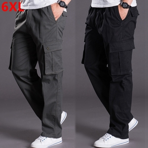 Image 1 - Autumn and winter thick models oversize  pants mens  pants loose mens trousers multi pocket casual pants men