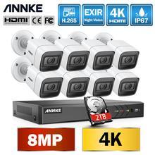 ANNKE 4K Ultra HD 8CH DVR Kit H.265 CCTV Camera Security System 8MP CCTV System IR Outdoor Night Vision Video Surveillance Kits