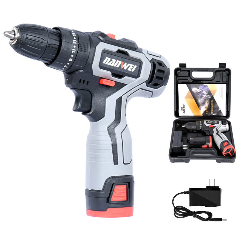 Mini Cordless Drill 12V Rechargeable Power Tools 2 speed Flexible Shaft Cordless Screwdriver Electric with Box