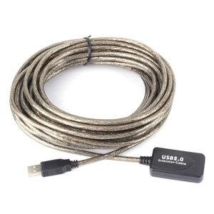 Image 1 - 2.0 USB 5M/10M/15M/20M 연장 케이블 활성 케이블 리피터 남성 여성 고속 와이어 USB 어댑터 노트북 PC 커넥터